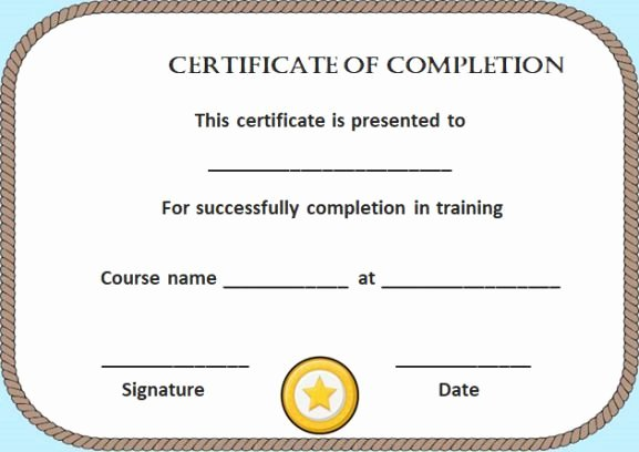 Nwcg Training Certificate Template Awesome Blank Certificate Of Pletion Template Free