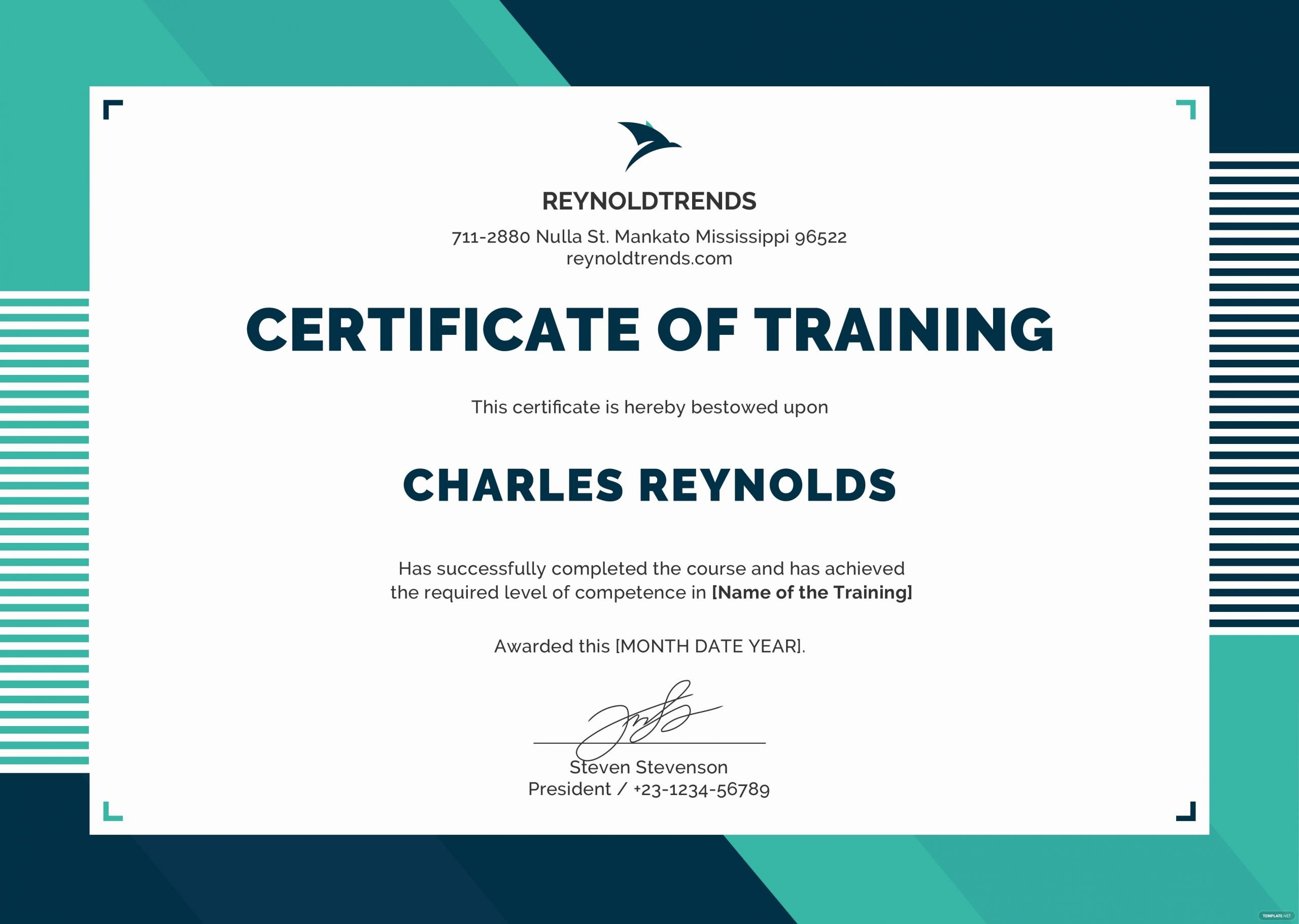 Nwcg Training Certificate Template Beautiful Free Pany Training Certificate Template In Psd Ms Word