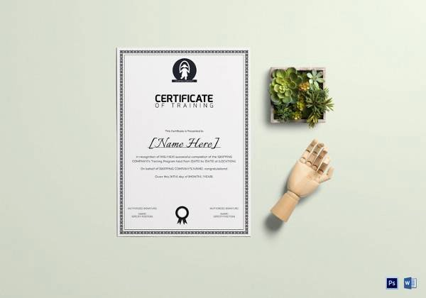 Nwcg Training Certificate Template Best Of 23 Training Certificate Templates – Free Samples