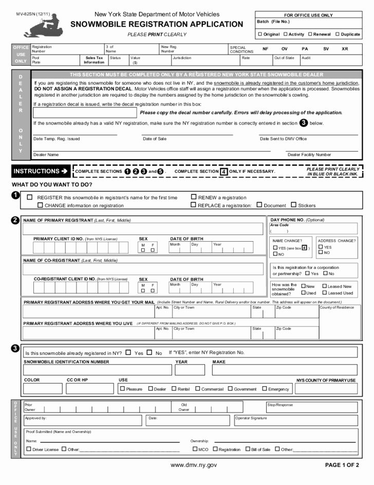 Nys Bill Of Sale Elegant Nys Motor Vehicle forms Impremedia