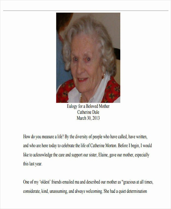 Obituary Examples for Mother Awesome 34 Sample Obituary