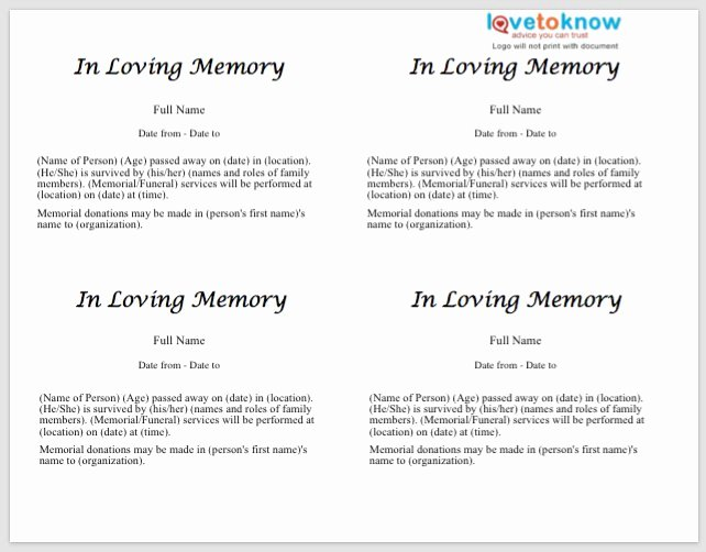 Obituary Notice Example Inspirational 25 Free Obituary Templates and Samples Free Template