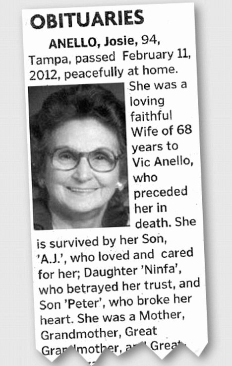 Obituary Notice Example Inspirational Josie Anello Obituary Of 94 Year Old Woman Goes Viral