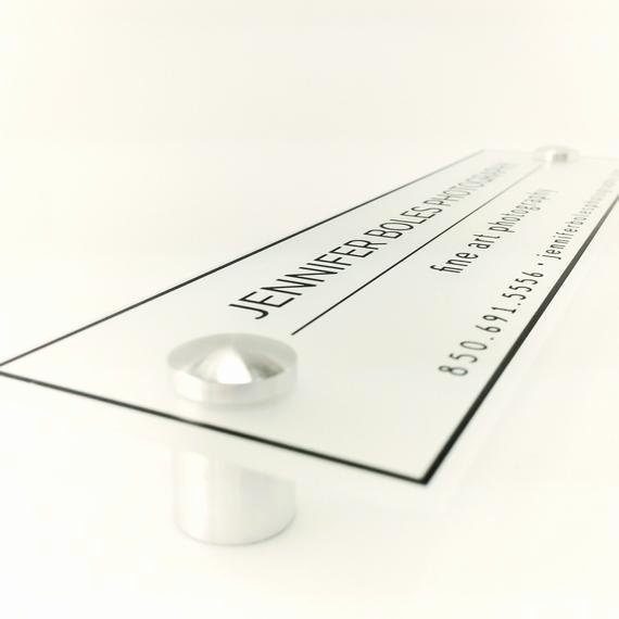 door name plate acrylic business sign