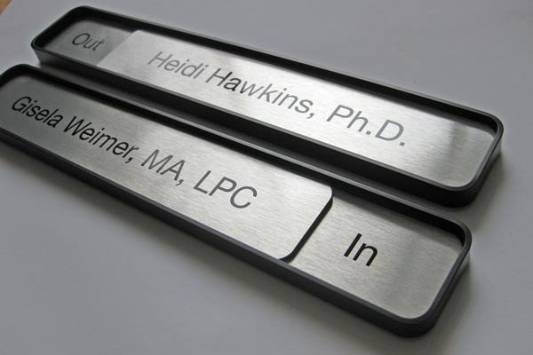 Office Door Name Plates Template Inspirational Sliding Message Fice Name Plate Signs