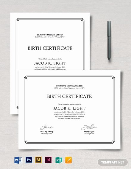 Official Birth Certificate Templates Fresh Free Birth Certificate Template Download 518