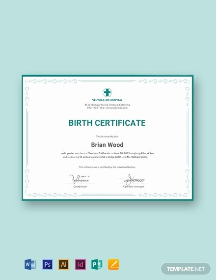Official Birth Certificate Templates Inspirational 15 Free Birth Certificate Templates [download Ready Made
