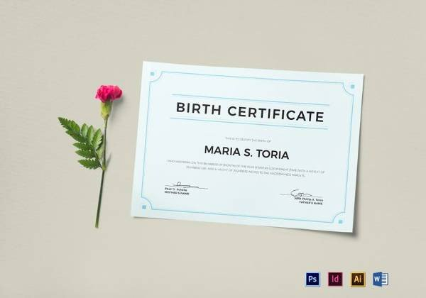 Official Blank Birth Certificate Template Beautiful Free 17 Birth Certificate Templates In Illustrator
