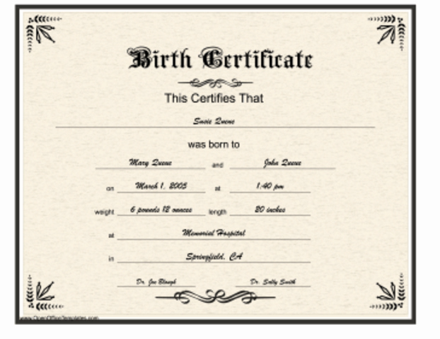 Official Blank Birth Certificate Template Lovely William Golding Timeline