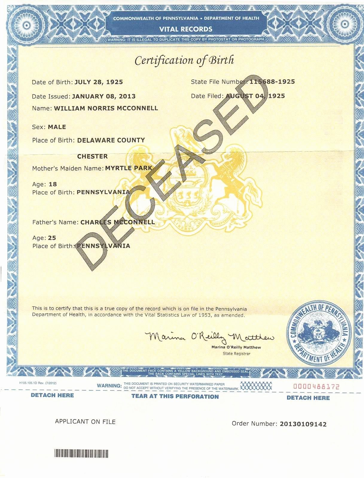 Old Birth Certificate Template Best Of 30 Useful Duplicate Birth Certificate Pa Qe Pro