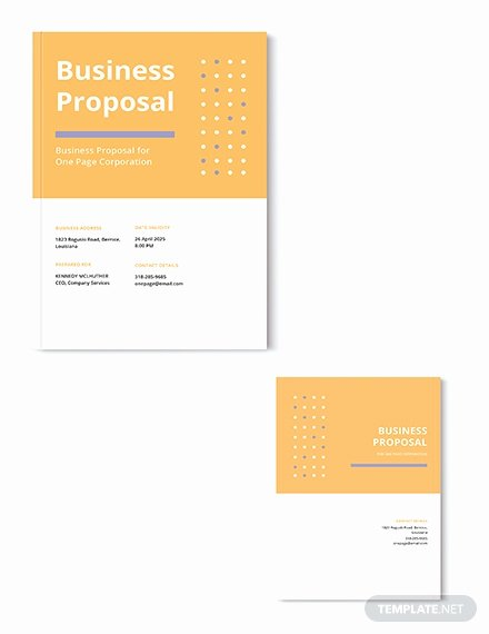 One Page Proposal Template Doc Best Of Free Sponsorship Proposal Template Download 116