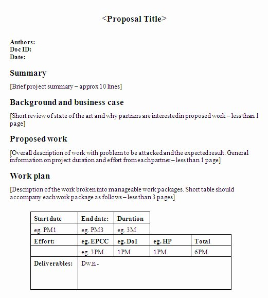 One Page Proposal Template Doc Elegant Essay About Munity Service