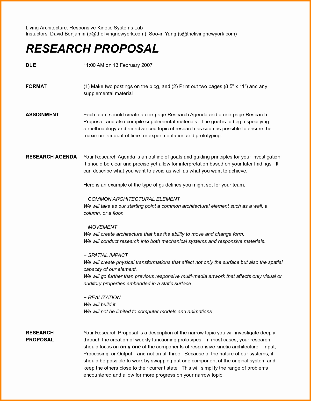 One Page Proposal Template Doc Inspirational Research Proposal assignment Writing A Research Proposal