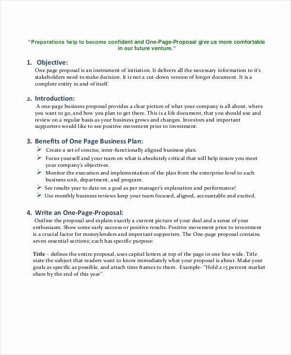 One Page Proposal Template Doc Lovely Business Proposal Template 35 Free Word Pdf Psd