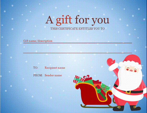 Open Office Gift Certificate Template Awesome Christmas T Certificate Christmas Spirit Design
