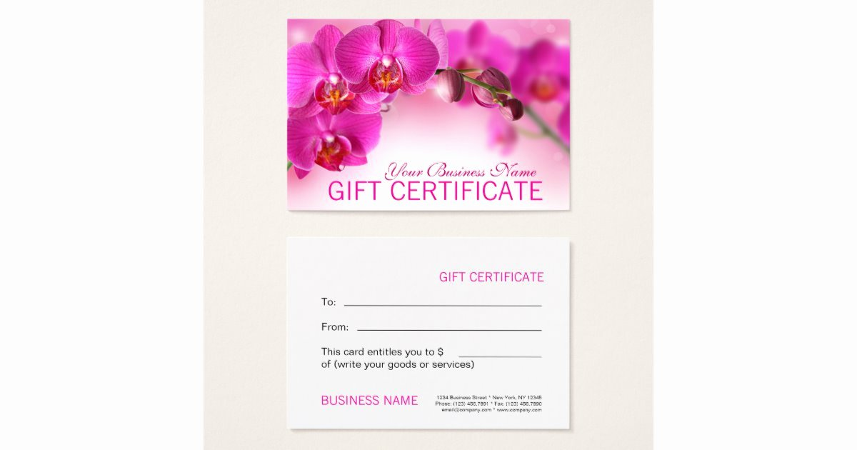Open Office Gift Certificate Template Beautiful Beauty Spa Salon Blank Gift Certificate Template