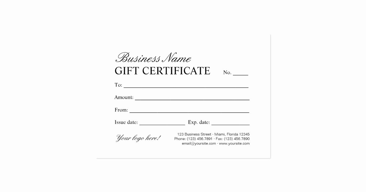 Open Office Gift Certificate Template Fresh Vintage Store & Boutique Gift Certificate Template