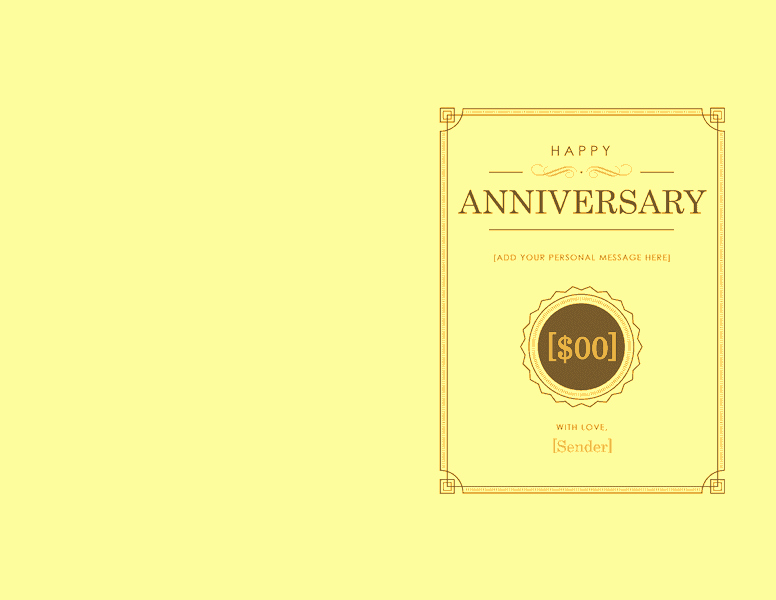 Open Office Gift Certificate Template Lovely Anniversary Gift Certificate Template Word 2003 Free