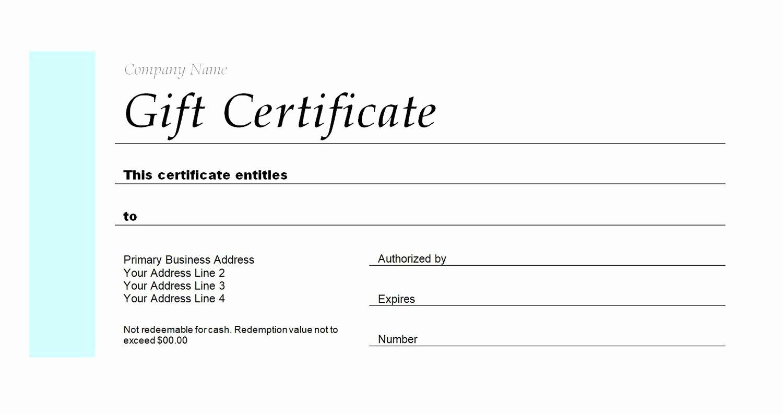 Open Office Gift Certificate Template Luxury Free Gift Certificate Templates You Can Customize