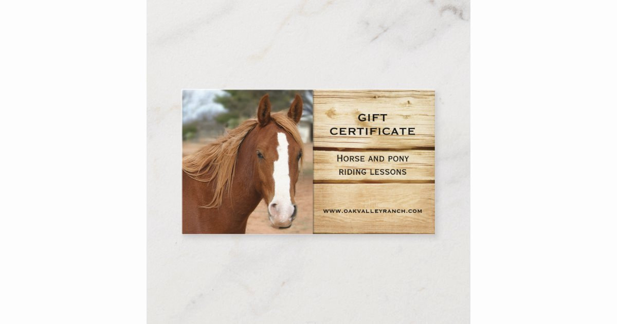 Open Office Gift Certificate Template New Horse Riding Lessons Gift Certificate Template