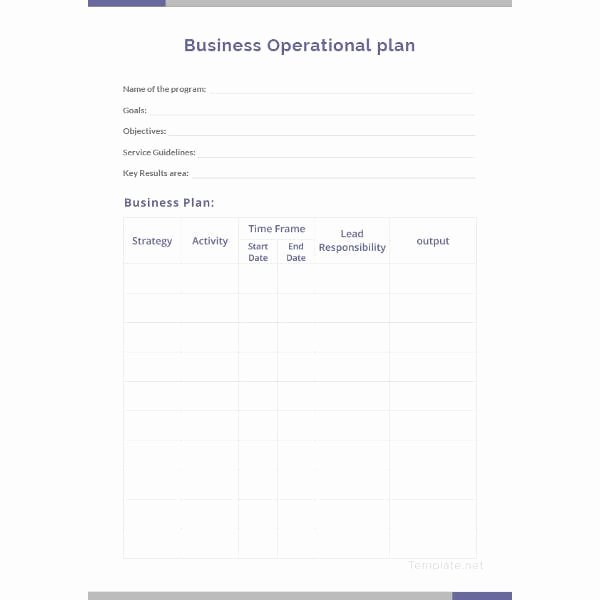 Operational Plan Examples Beautiful 10 Operational Plan for Restaurant Examples Pdf