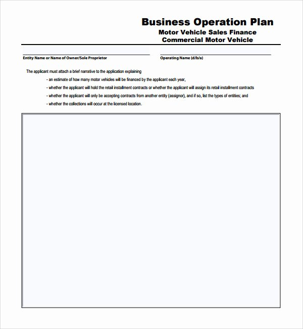 Operational Plan Examples Luxury Sample Operational Plan Template 20 Free Documents In