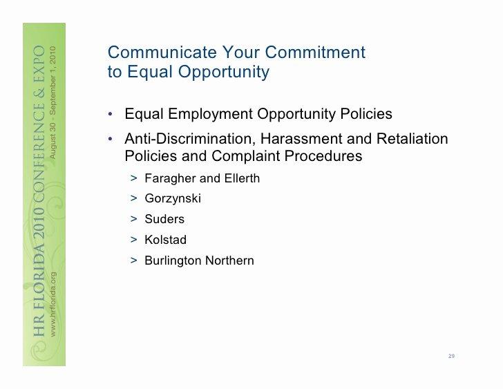Opportunity Statement Examples Inspirational Weitzman Employee Handbooks Every Word Counts