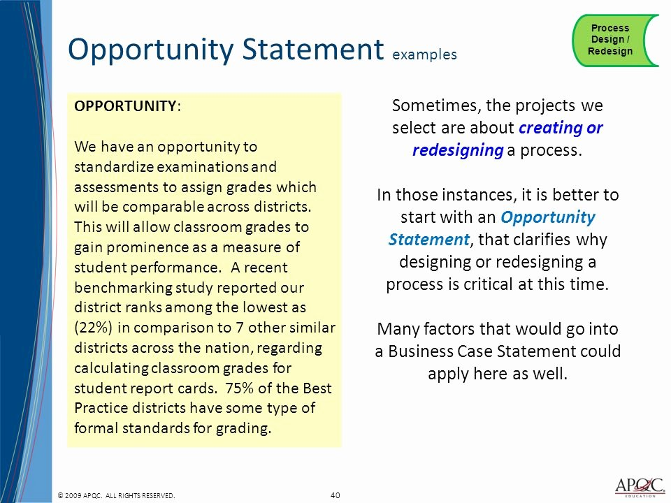 Opportunity Statement Examples New 20 Of Opportunity Statement Template