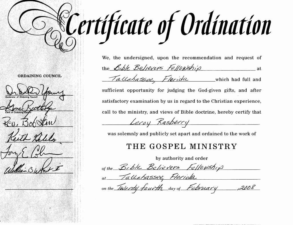 Ordained Minister Certificate Template Unique 26 Of Free ordination Template