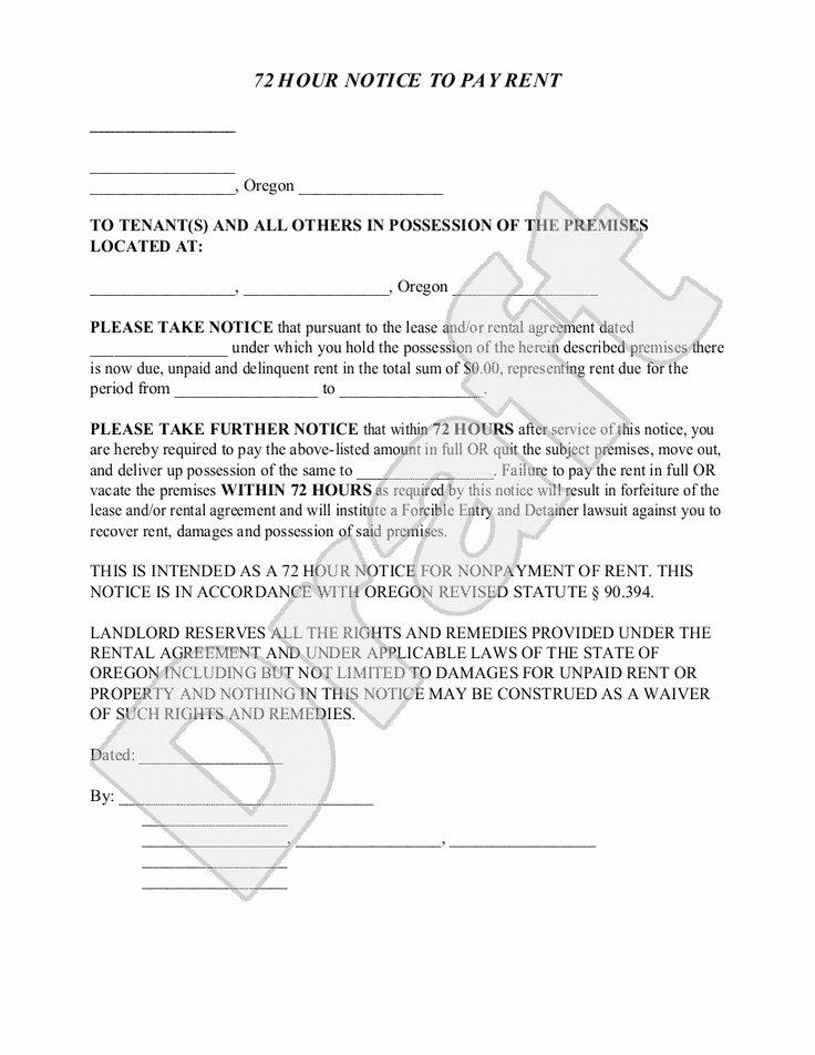 Oregon 30 Day Eviction Notice Template Lovely Sample oregon Eviction Notice form Template