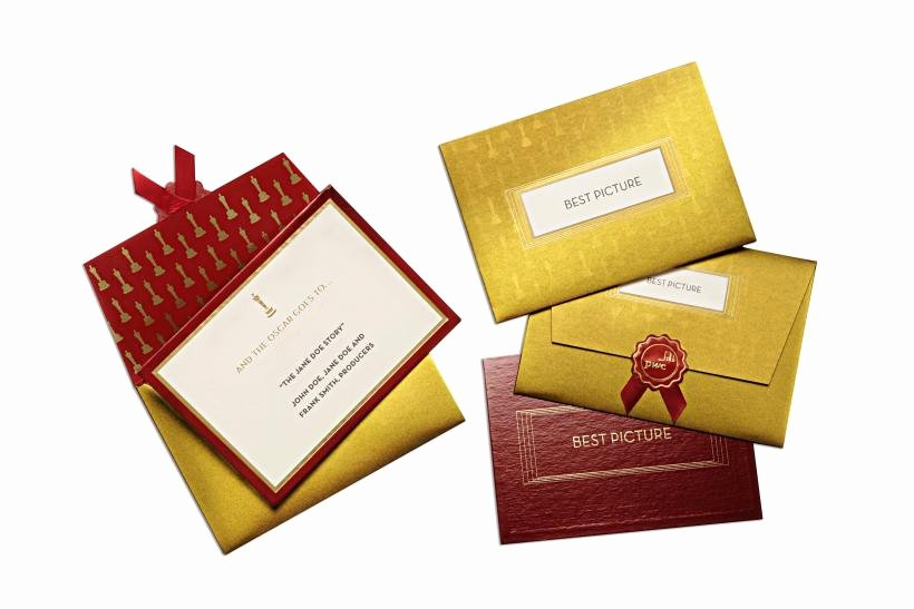 Oscar Award Trophy Template Beautiful who Makes Those Oscar Envelopes See How the Process Unfolds