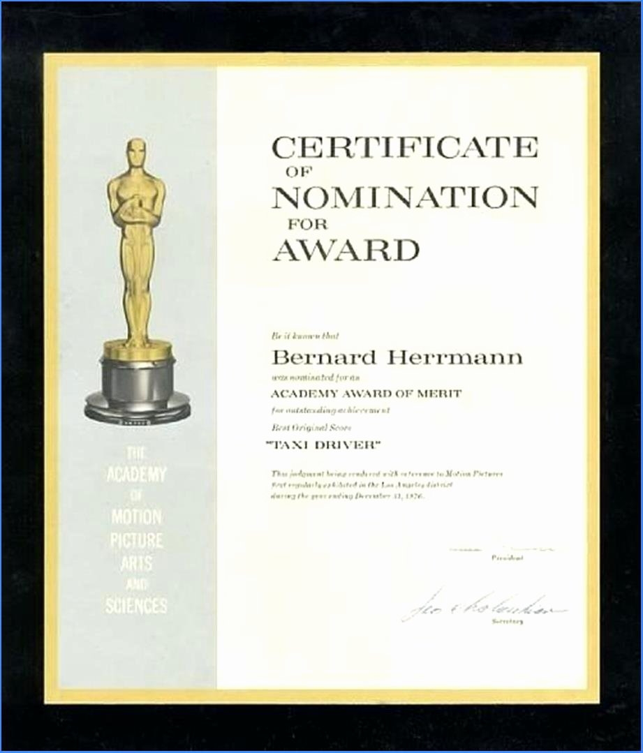 Oscar Award Trophy Template Luxury Editable Award Certificate Template In Word 1476
