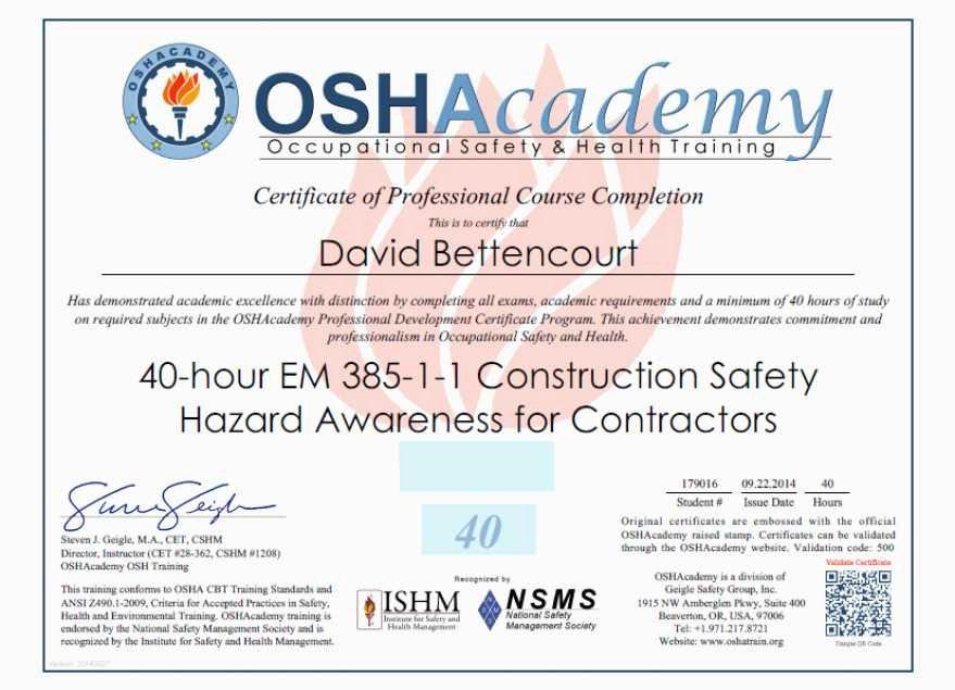 Osha 10 Certificate Template Lovely Best Ideas for Osha 10 Certificate Template with Letter