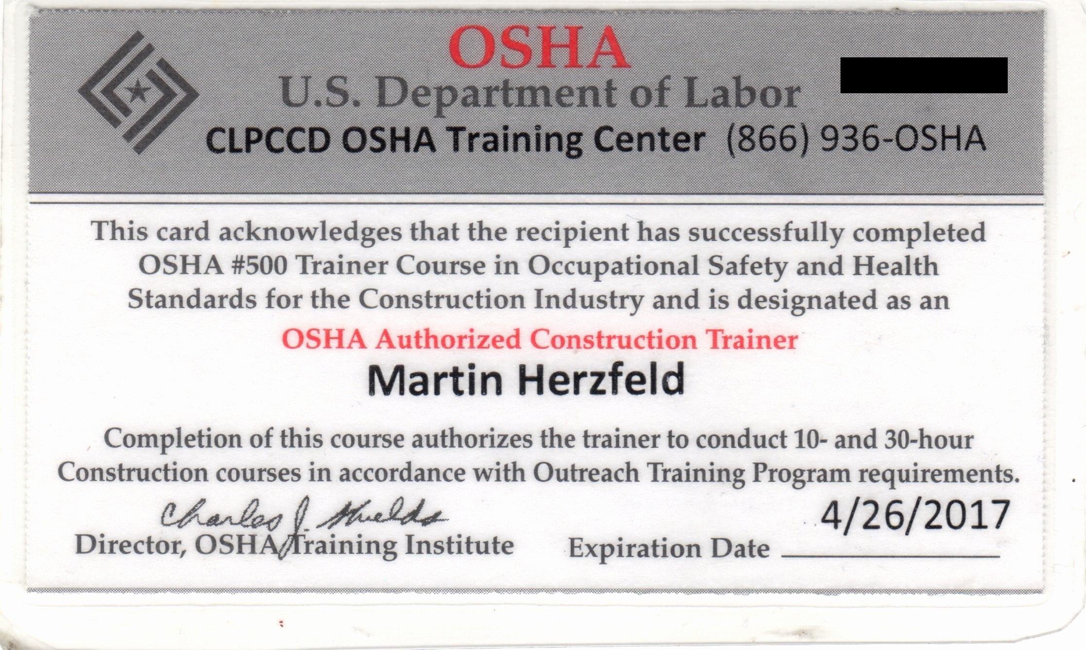 Osha 10 Certificate Template Unique Licensed solar Contractor & Project Consultant Licensed