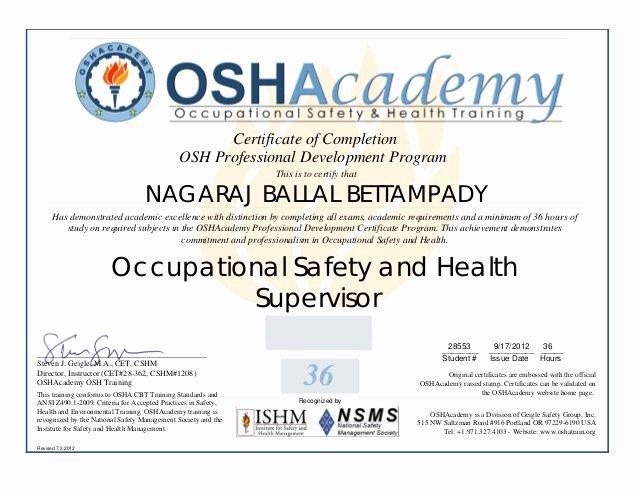 Osha 30 Certificate Template Best Of Osha Training Pdf 1