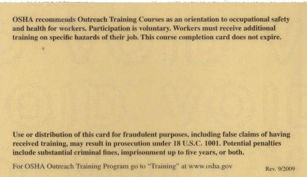 Osha 30 Certificate Template Elegant Does Osha Card Expire