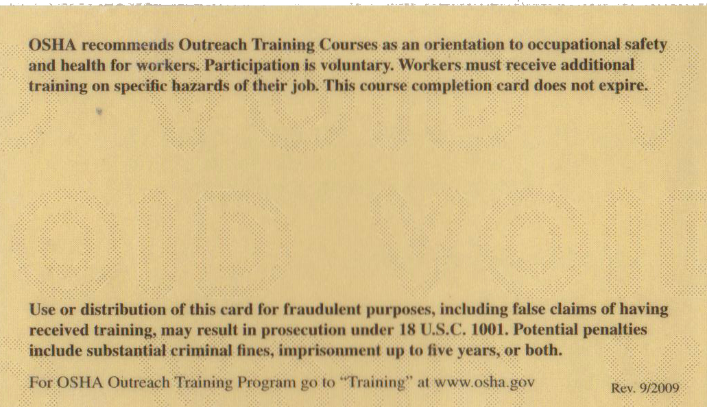 Osha 30 Certificate Template Lovely Does Osha Card Expire