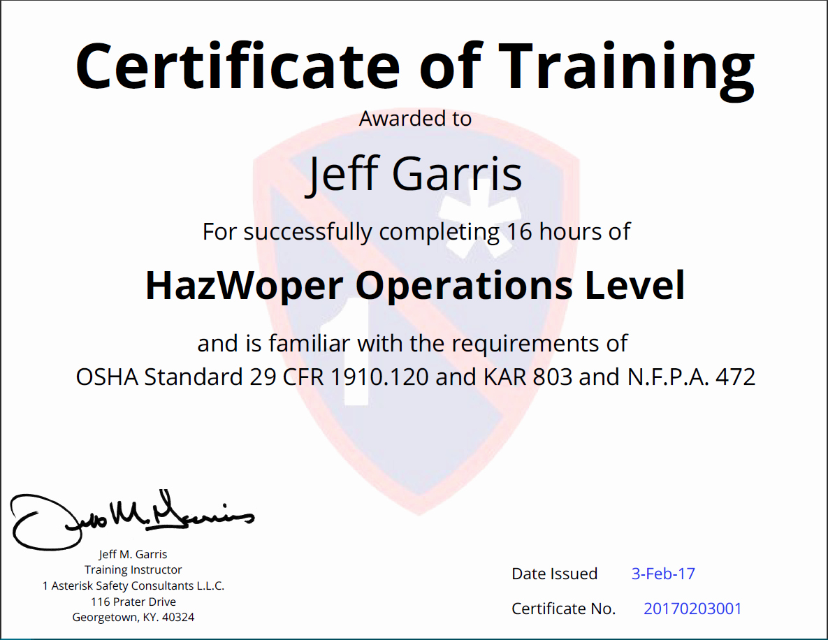 Osha Training Certificate Template Beautiful Osha Certificate Of Training Simplecert
