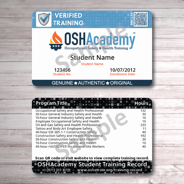 Osha Training Certificate Template Best Of Oshacademy 233 Hour Oil and Gas Safety and Health