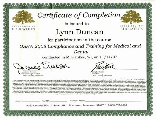 Osha Training Certificate Template Luxury Best S Of Osha Certificate Template Osha Training