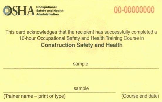 Osha Training Certificate Template Luxury Osha 10 Certificate Template Bizoptimizer