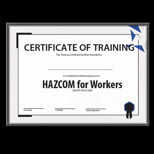 Osha Training Certificate Template New Osha Haz Training Kit