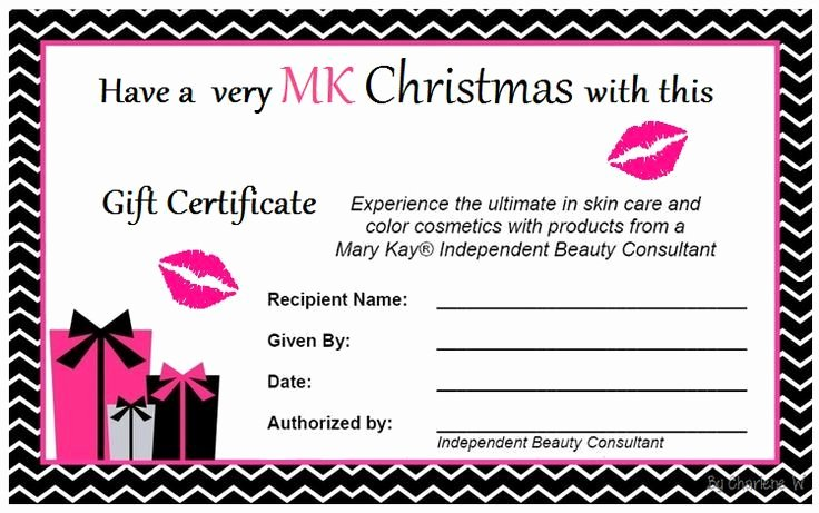 Pampered Chef Gift Certificate Template Elegant 17 Best Images About Mary Kay On Pinterest