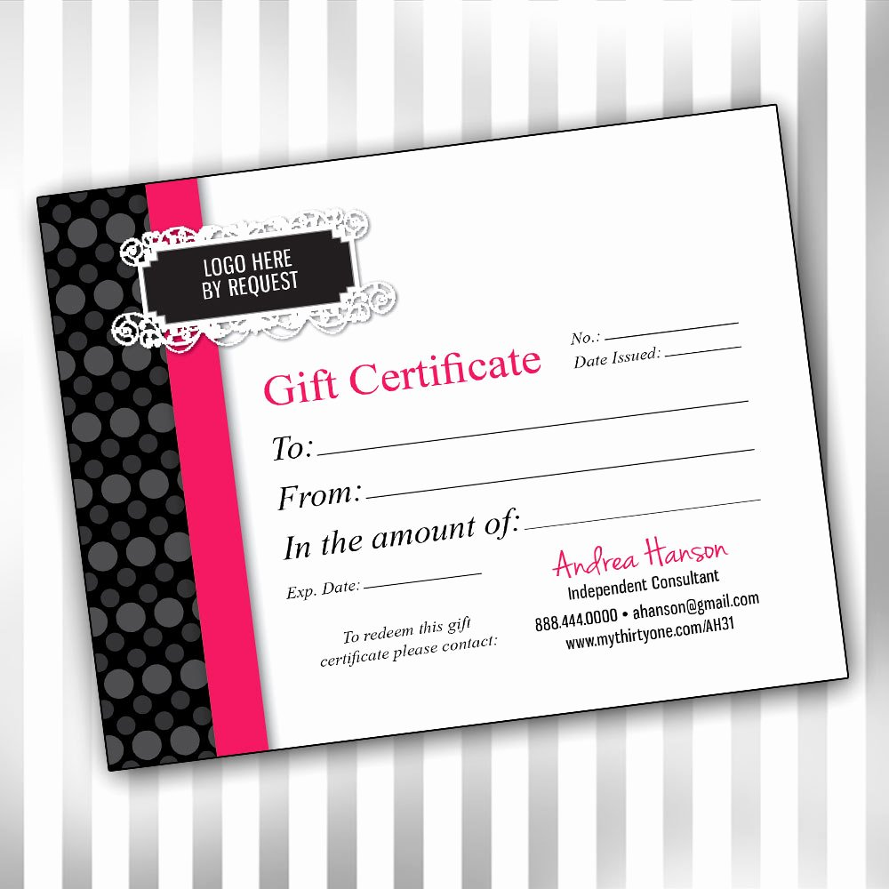 Pampered Chef Gift Certificate Template Inspirational 29 Of Pampered Chef Gift Certificate Template