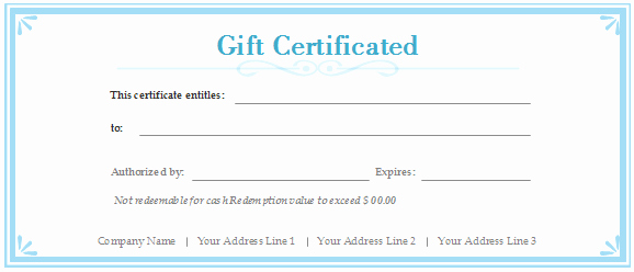 Pampered Chef Gift Certificate Template New Free Gift Certificate Templates Customizable and Printable