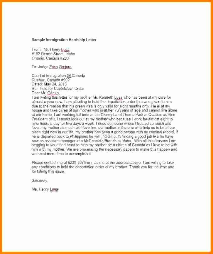 Pardon Letter Examples Fresh 11 Immigration Pardon Letter Sample