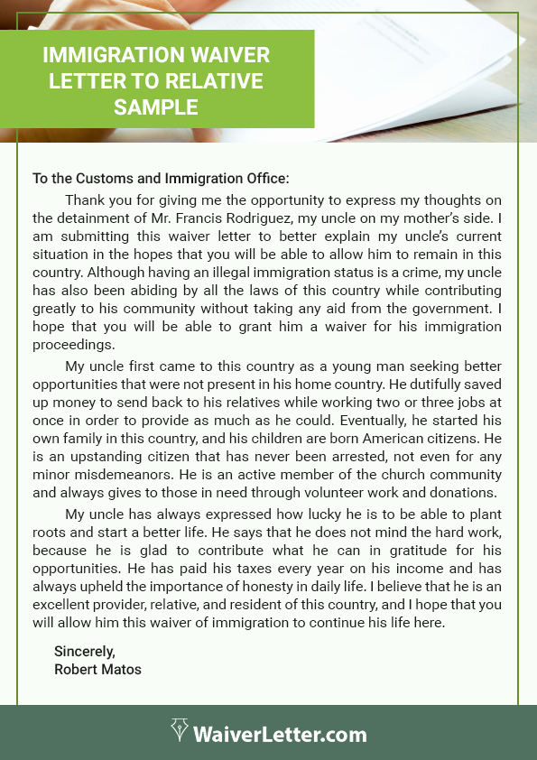 Pardon Letter Immigration Luxury How to Write A Waiver Letter for Immigration
