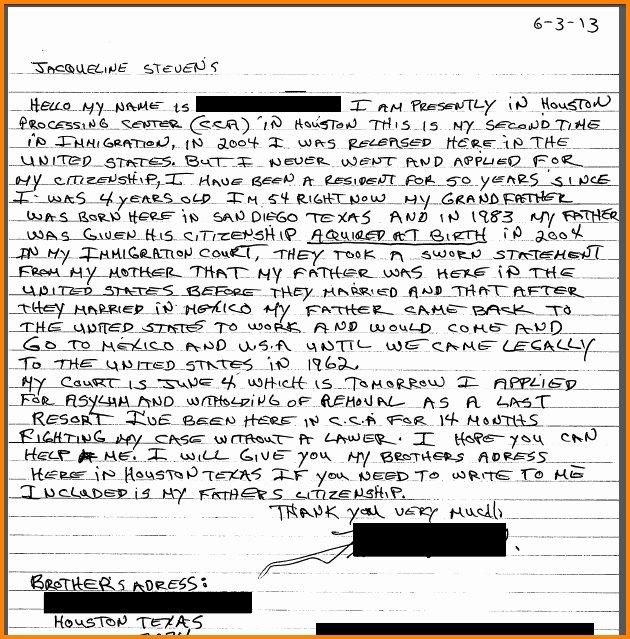 Pardon Letters for Immigration Elegant Hardship Letter for Immigration Waiver Letter