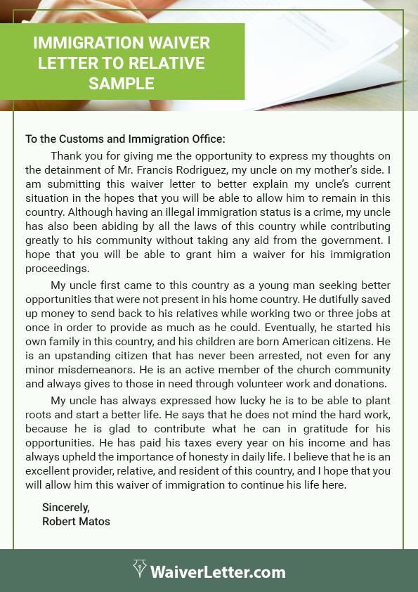 Pardon Letters for Immigration Unique How to Write A Waiver Letter for Immigration