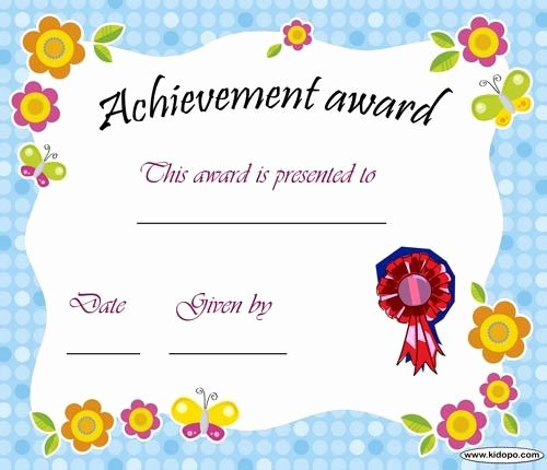 Parenting Class Certificate Of Completion Template Elegant Printable Achievement Award Certificate Daycare